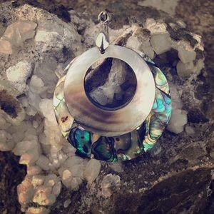 Abelone shell pendant.